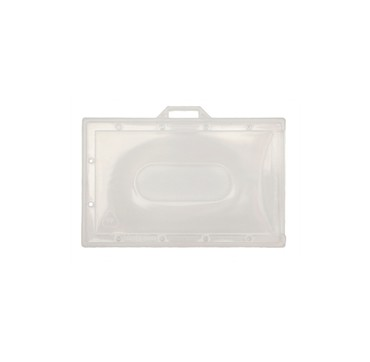 Porte-badges transparent souple